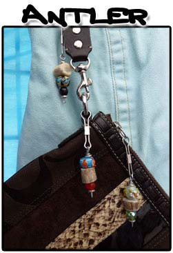 Photo of Antler zipper pulls